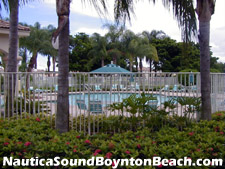 The Nautica Sound pool area - a great place for adults and kids to spend a summer afternoon.
